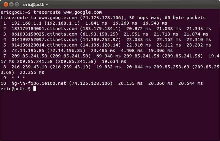 Invite CMD Linux - traceroute tracert