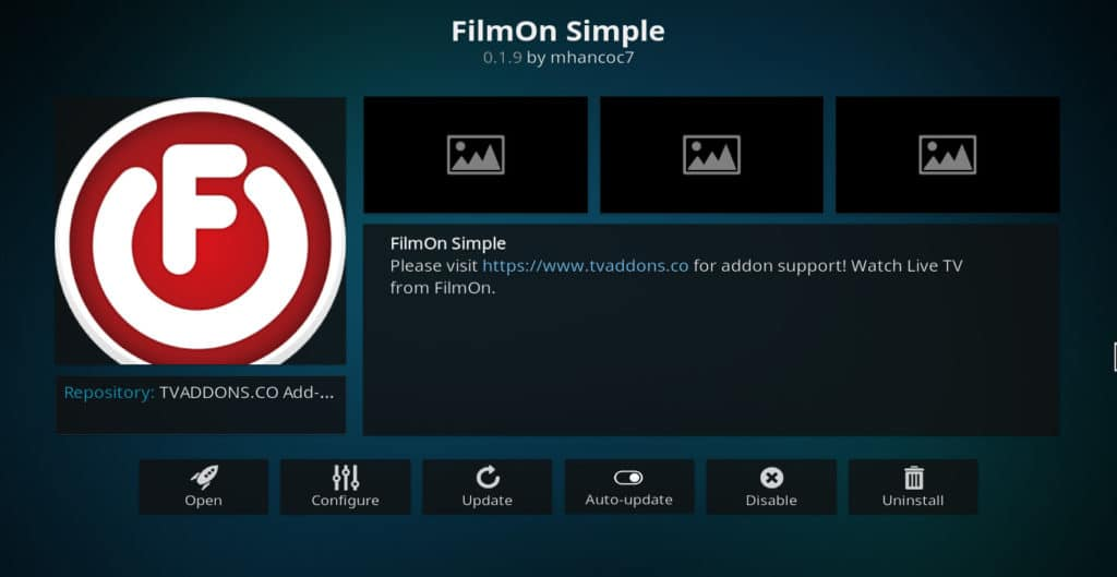 Module FilmOn Simple Kodi