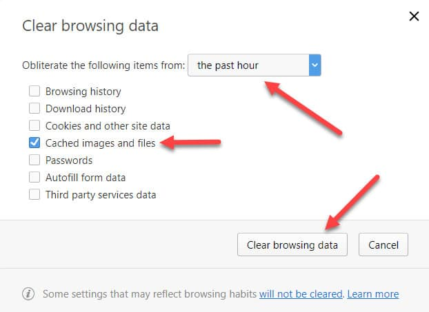 أوبرا القائمة ذاكرة التخزين المؤقت واضحة