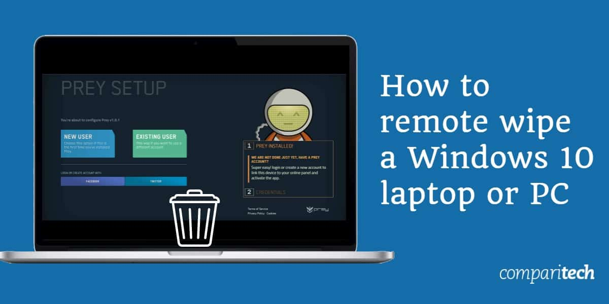 Como limpar remotamente um laptop ou PC com Windows 10