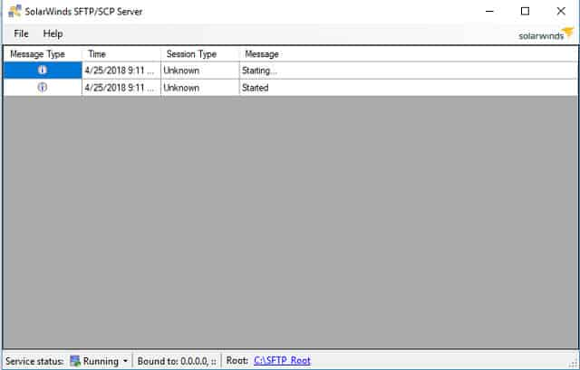 Il server SFTP / SCP di SolarWinds